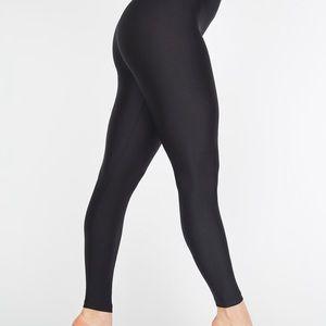 {American Apparel} High-Waist Black Nylon Leggings